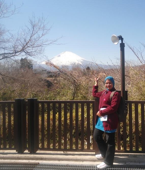 latar gunung fuji